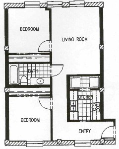 748 sq. ft. P4B-50 floor plan