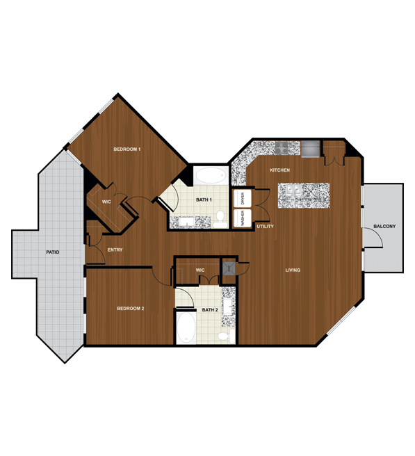 1,296 sq. ft. B6 floor plan