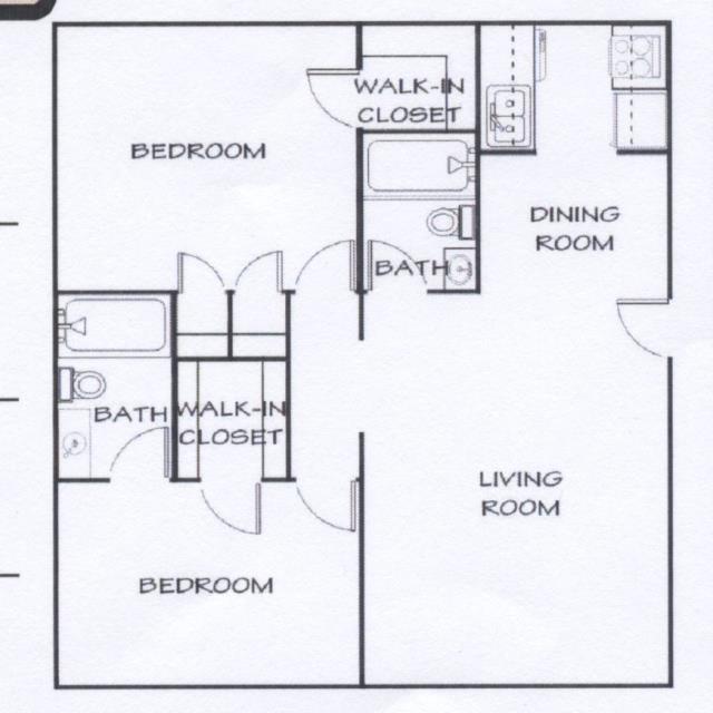 915 sq. ft. F floor plan