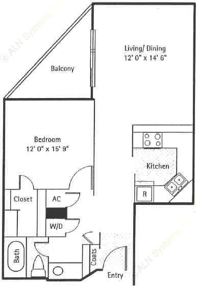 718 sq. ft. Greenwich floor plan