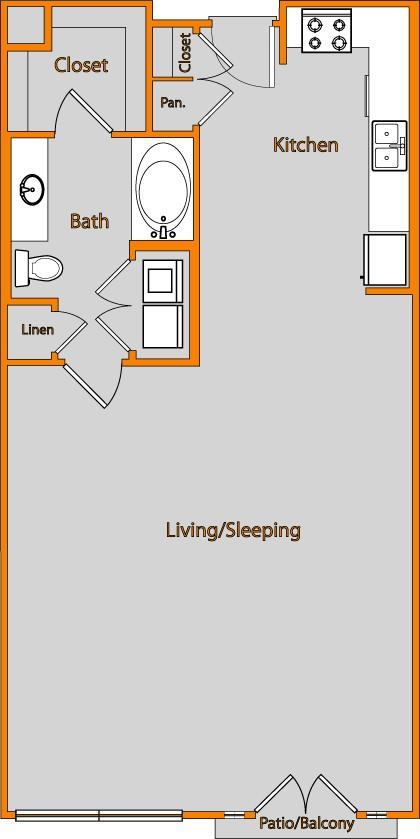 832 sq. ft. LOFT 4 floor plan