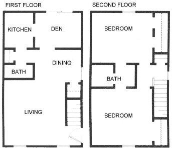 1,088 sq. ft. C2 floor plan