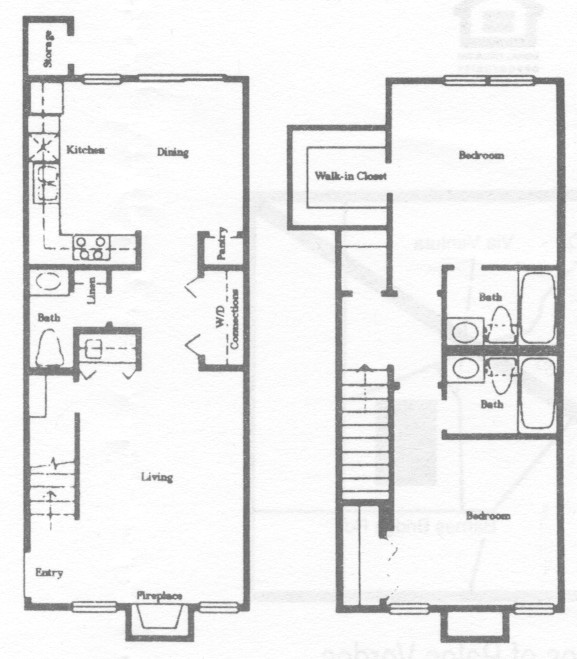1,092 sq. ft. B6 floor plan