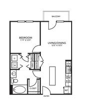 700 sq. ft. A1K floor plan