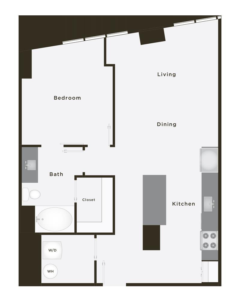 859 sq. ft. Legend floor plan