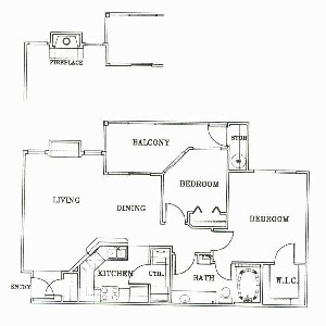 862 sq. ft. A3-MONTEREY floor plan