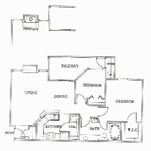 862 sq. ft. A3-Monterey floor plan