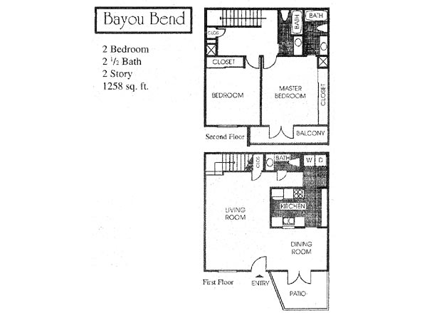 1,258 sq. ft. B3 floor plan