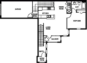 906 sq. ft. 60% floor plan