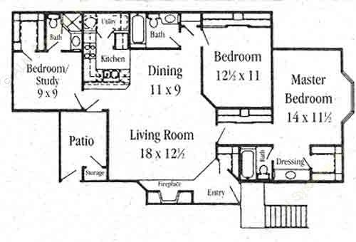 1,361 sq. ft. C-1 floor plan
