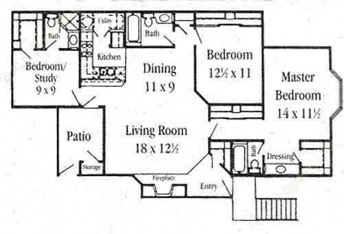 1,361 sq. ft. C-1 floor plan