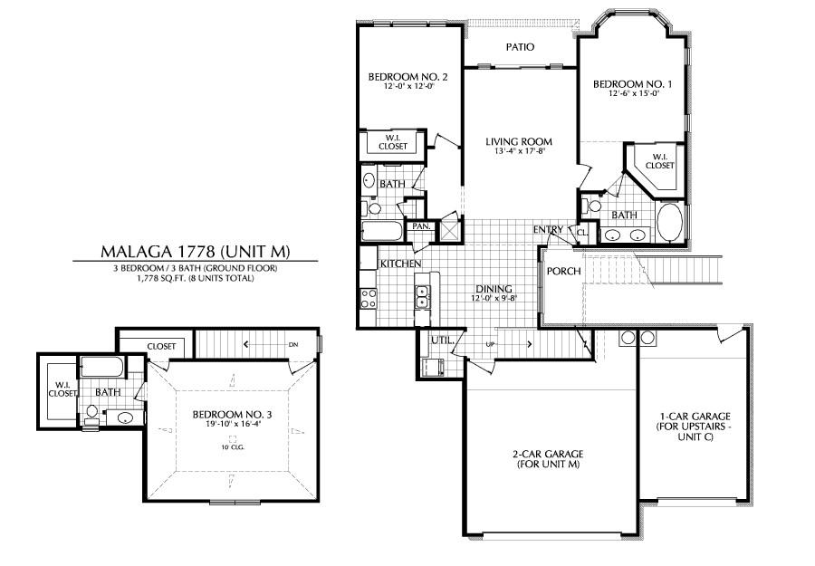 1,778 sq. ft. M floor plan