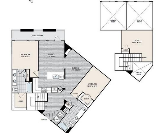 1,525 sq. ft. C4 floor plan