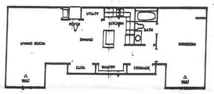 921 sq. ft. F floor plan