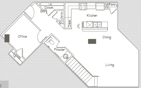 1,654 sq. ft. P8 floor plan