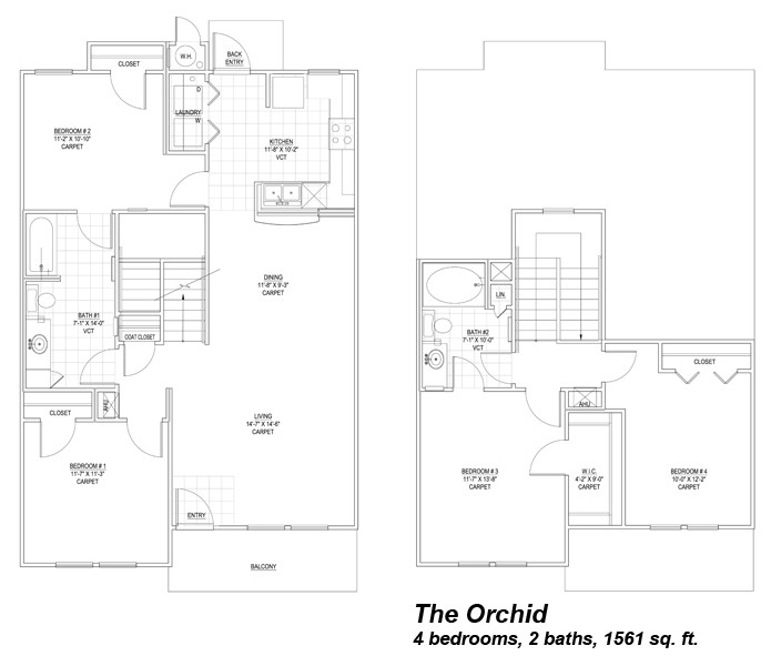 1,561 sq. ft. Orchid 30% floor plan