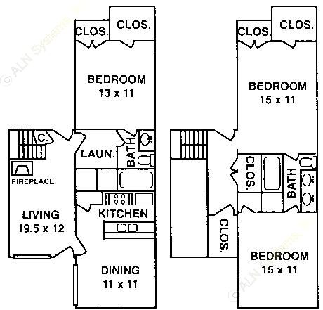 1,701 sq. ft. C-2 floor plan