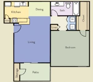 738 sq. ft. Lexington floor plan