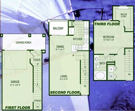 1,202 sq. ft. A5 Windjammer floor plan