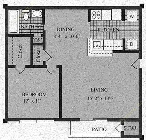 584 sq. ft. C-60% floor plan