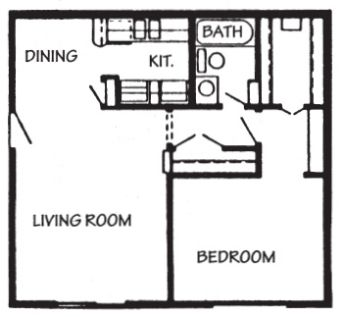 661 sq. ft. Acapulco floor plan