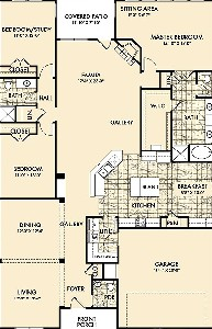 2,494 sq. ft. VENETIAN COTTAGES floor plan