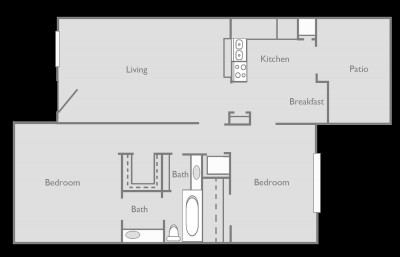 1,008 sq. ft. A floor plan