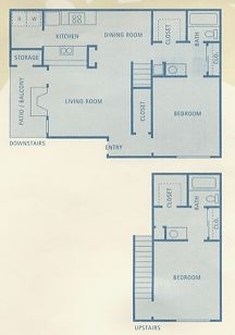 1,105 sq. ft. Ursa floor plan