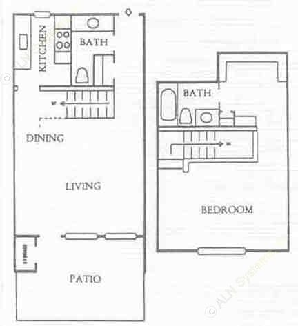 940 sq. ft. A4 floor plan