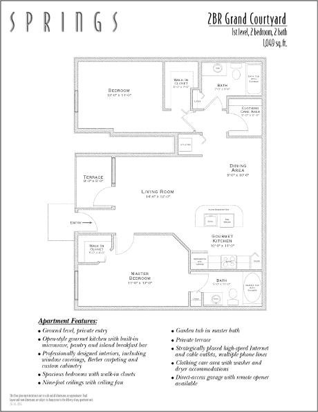 1,049 sq. ft. Grand Court floor plan