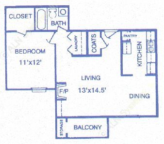 705 sq. ft. Limestone floor plan