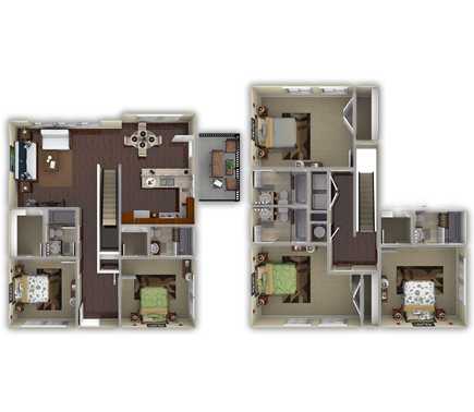 2,124 sq. ft. Sycamore floor plan