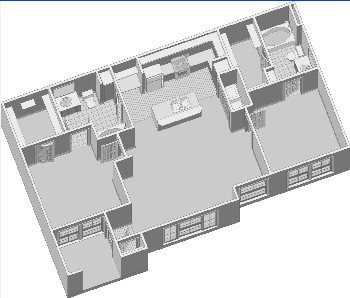 1,082 sq. ft. B1PH2 floor plan