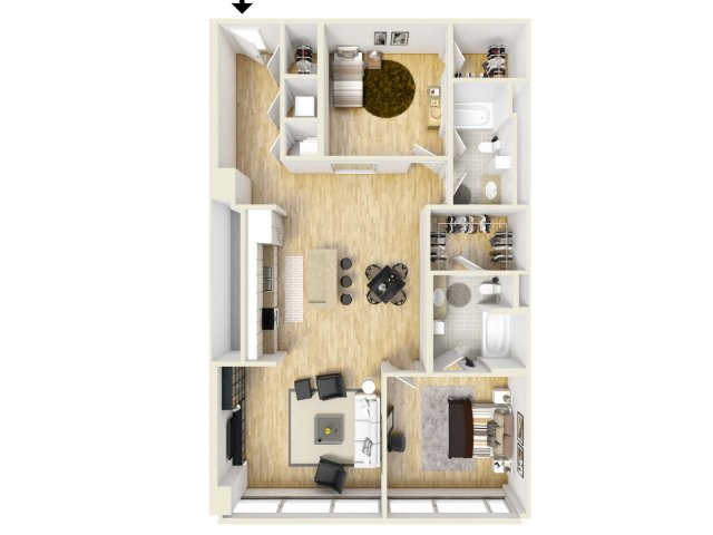 1,328 sq. ft. Majestic floor plan