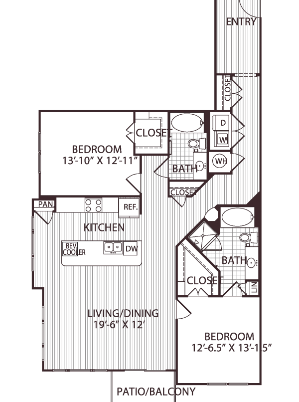 1,399 sq. ft. B7 floor plan