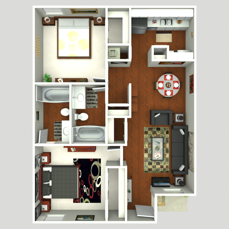 848 sq. ft. Trent floor plan