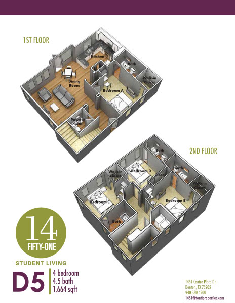 1,664 sq. ft. D6 floor plan