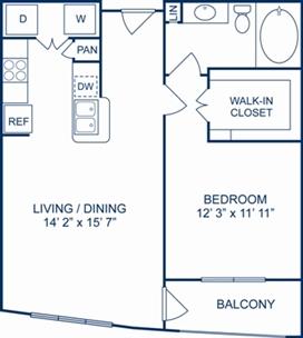759 sq. ft. Florence floor plan