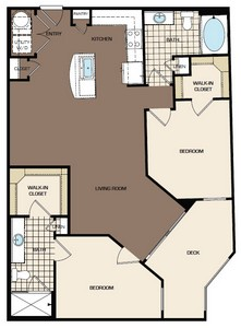 1,056 sq. ft. C2-alt2 floor plan