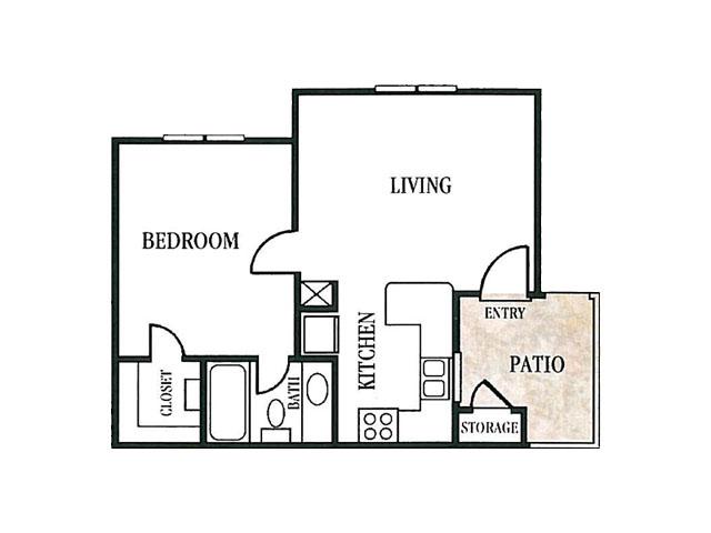 509 sq. ft. floor plan