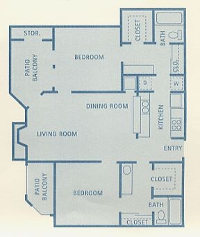 942 sq. ft. Taurus floor plan