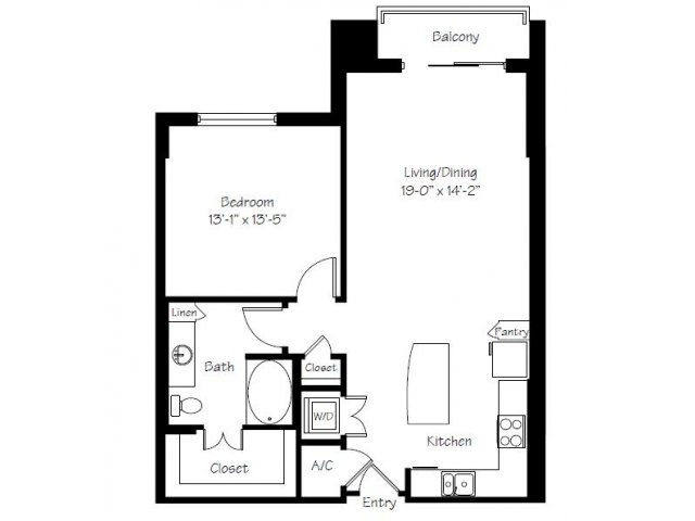 936 sq. ft. A10A floor plan