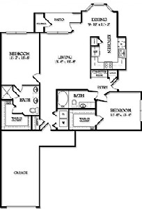 1,176 sq. ft. Lexington floor plan