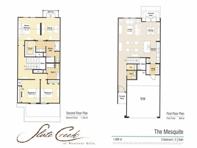 1,999 sq. ft. Mesquite floor plan