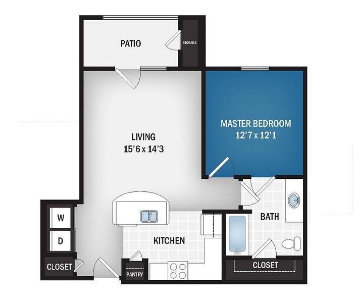 703 sq. ft. Nova floor plan