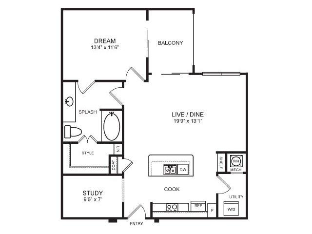 835 sq. ft. Maverick floor plan