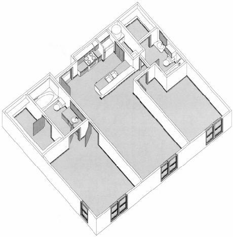 1,215 sq. ft. floor plan