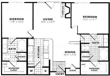 1,119 sq. ft. Leger floor plan