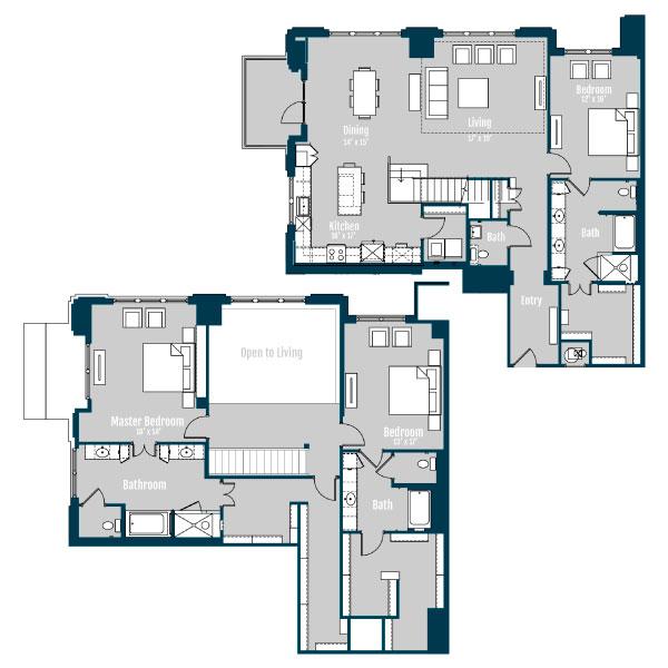 3,329 sq. ft. PH 5 floor plan