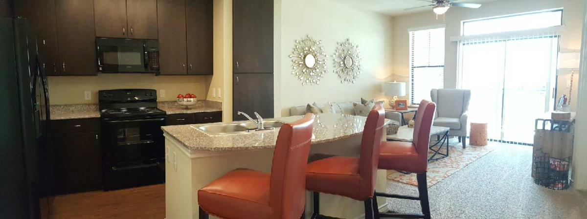 Living/Kitchen at Listing #277828